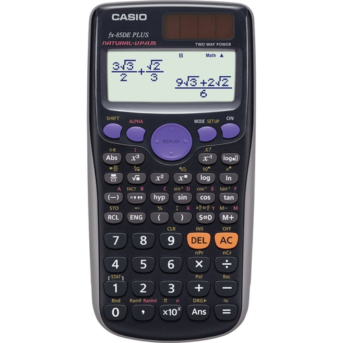 Casio FX-85DE Plus (Schwarz)