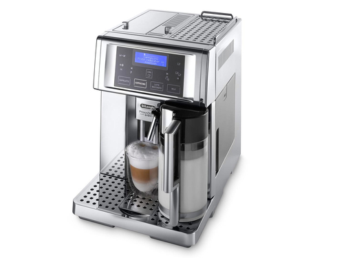 DeLonghi PrimaDonna Avant ESAM 6750 Freistehend Vollautomatisch Espressomaschine 1.8l 14Tassen Silber (Silber)