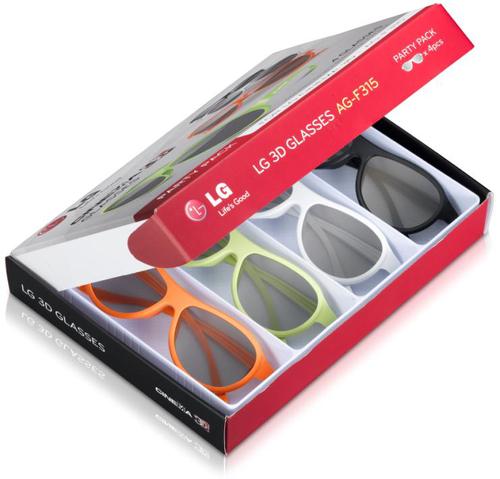 LG AG-F315 stereoscopische 3D-brille/Fernglas (Mehrfarbig)