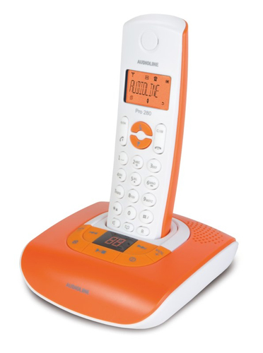 Audioline PRO 280 COLOR (Orange, Weiß)