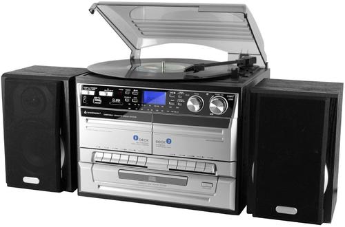 Soundmaster MCD 4500 USB Homestereoanlage (Schwarz, Silber)