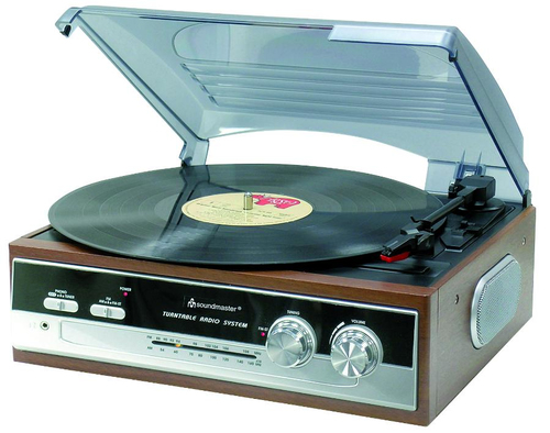 Soundmaster PL 186 (Aluminium, Transparent, Holz)