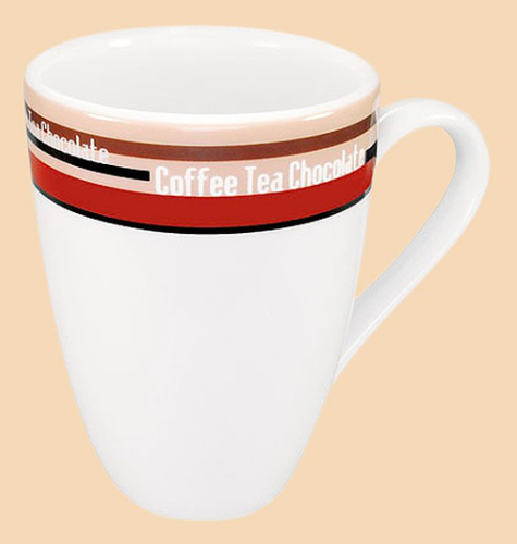 Könitz Porzellan 4pc Coffee Bar No. 9 - Mug - Coffee Stripes (Mehrfarbig)