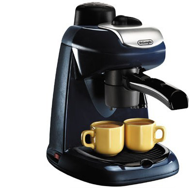 DeLonghi Compact Steam Espresso/Cappuccino Maker, EC7 (Navy)