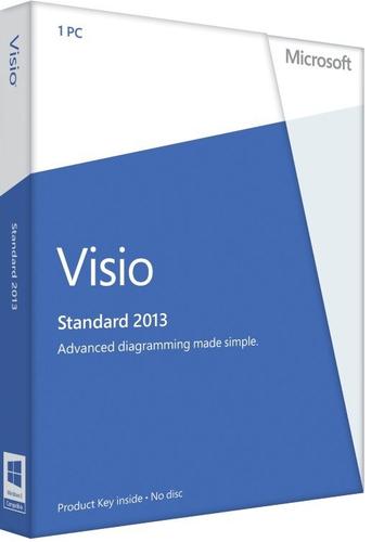 Microsoft Visio Standard 2013, x32/64, 1u, DEU
