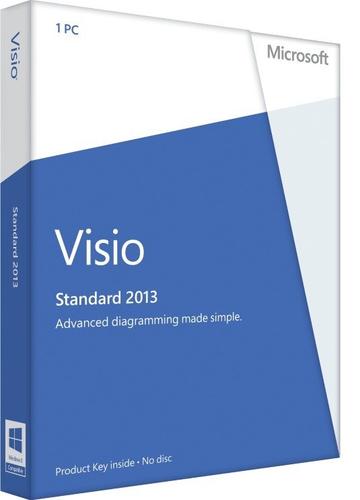 Microsoft Visio Professional 2013, x32/64, 1u, DEU