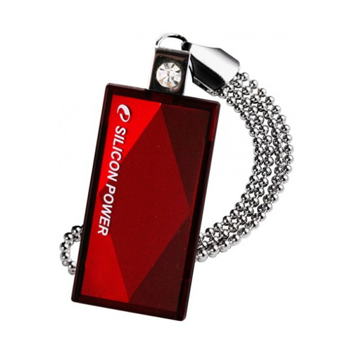 Silicon Power 64GB Touch 810 64GB USB 2.0 Rot USB-Stick (Rot)
