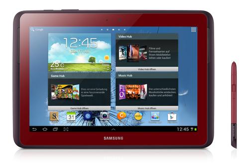 Samsung Galaxy Note 10.1 16GB 3G Red (Rot)