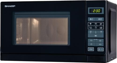Sharp R-242 BKW Mikrowelle (Schwarz)
