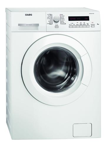 AEG L73480FL Freistehend 8kg 1400RPM A+++ Weiß Vorderseite Waschmaschine (Weiß)