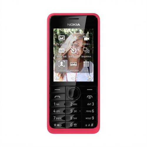 Nokia 301 (Schwarz, Pink)
