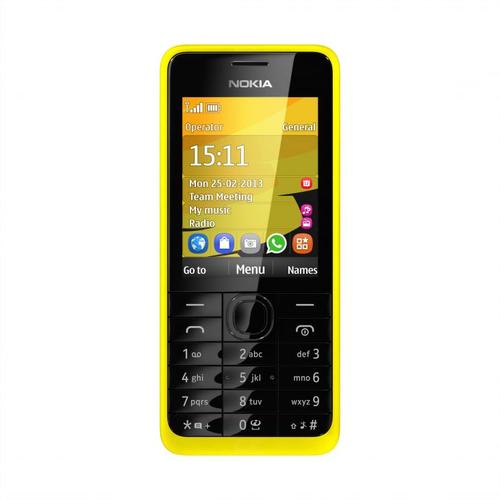 Nokia 301 (Schwarz, Gelb)