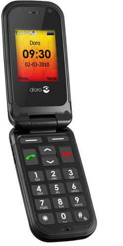 Doro PhoneEasy 611 Mobiltelefon/Handy (Schwarz)