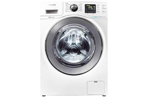 Samsung WD806P4SAWQ Wasch-Trockner (Chrom, Weiß)