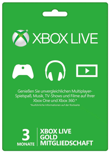 Microsoft Xbox 360 LIVE 3m Gold Subscription
