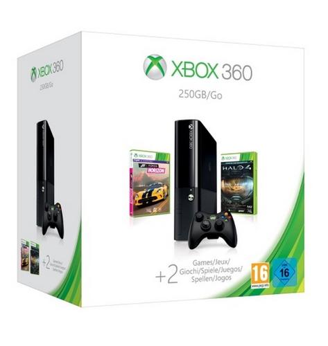 Microsoft Xbox 360 250GB + Halo 4 + FH XB3 (Schwarz)