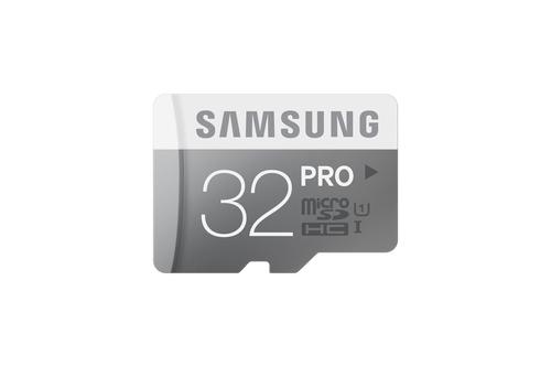 Samsung 32GB, MicroSDHC PRO 32GB MicroSDHC UHS Class 10 Speicherkarte (Grau, Weiß)