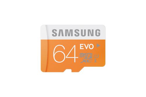 Samsung 64GB, MicroSDXC EVO (Orange, Weiß)