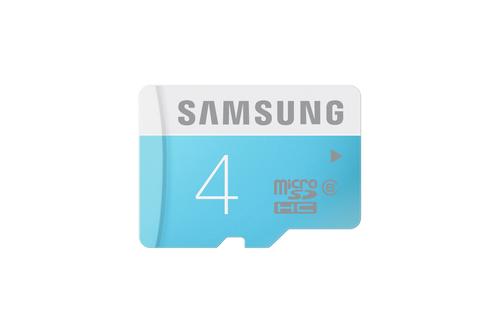 Samsung 4GB MicroSDHC, Standard (Blau, Weiß)