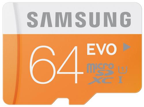 Samsung EVO 64GB MicroSDXC Class 10 (Orange, Weiß)
