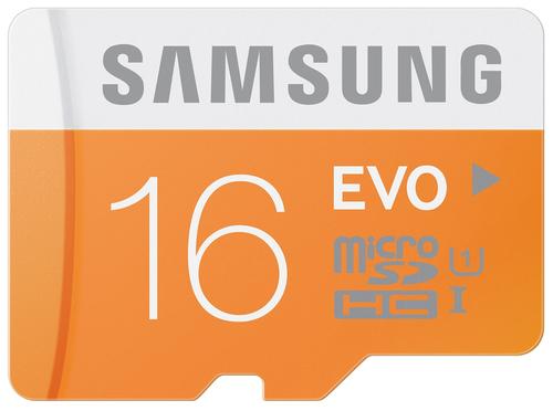 Samsung EVO 16GB MicroSDHC Class 10 (Orange, Weiß)