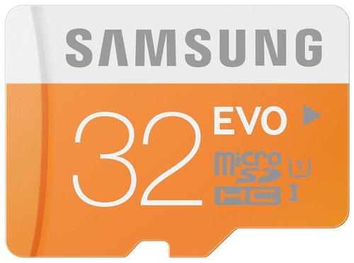 Samsung EVO 32GB MicroSDHC Class 10 (Orange, Weiß)