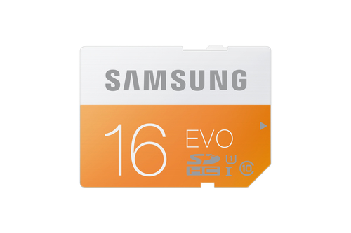 Samsung 16GB, SDHC EVO (Orange, Weiß)