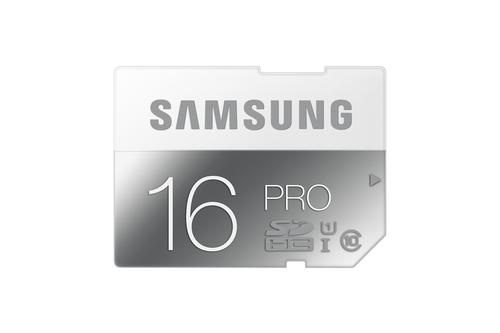 Samsung 16GB, SDHC, Pro (Grau, Weiß)