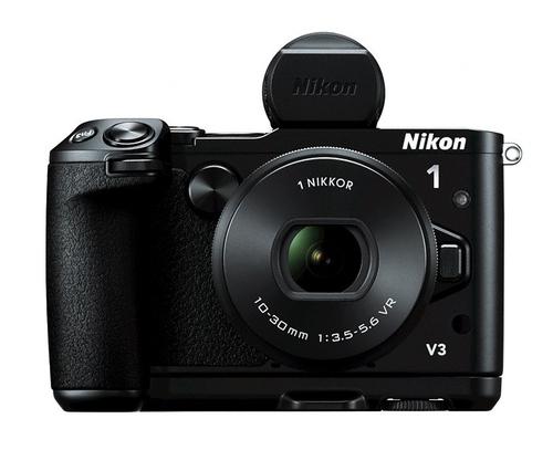 Nikon 1 V3 + 1 NIKKOR VR 10-30mm + DF-N1000 + GR-N1010 (Schwarz)