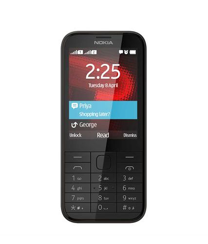 "Nokia 225 Dual SIM 2.8"" 100.6g Black (Black)"