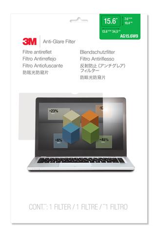 """3M AG15.6W9 Blendschutzfilter für Widescreen Laptops 15,6"""" (Transparent)"""