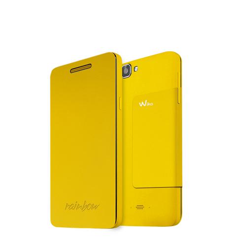 Wiko 92261 Handy-Schutzhülle (Gelb)