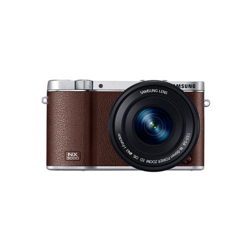Samsung NX 3000 + 16 - 50mm Power Zoom + SEF-8A (Braun)