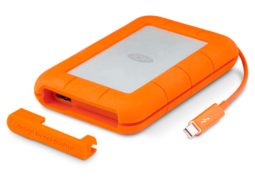 LaCie Rugged 500GB 500GB Grau (Grau, Orange)