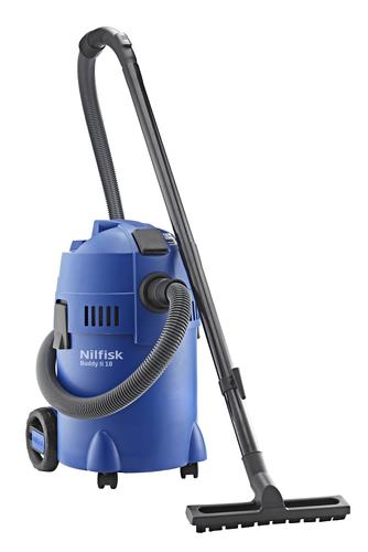 Nilfisk Buddy II 18T Trommel-Vakuum 18l 1200W Schwarz, Blau (Schwarz, Blau)