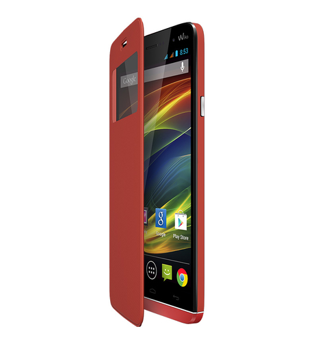 Wiko 93451 Handy-Schutzhülle (Coral)