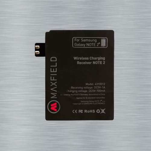 Maxfield Wireless Charging Receiver Note 2 (Schwarz)