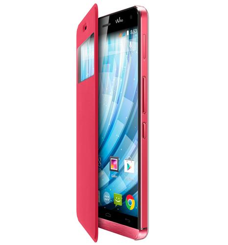 Wiko 93541 Handy-Schutzhülle (Coral)