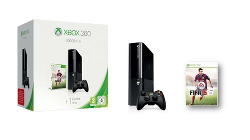 Microsoft 500GB Xbox 360 & FIFA 15 (Schwarz)