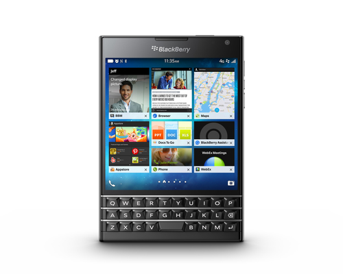 BlackBerry Passport Single SIM 4G 32GB Schwarz (Schwarz)