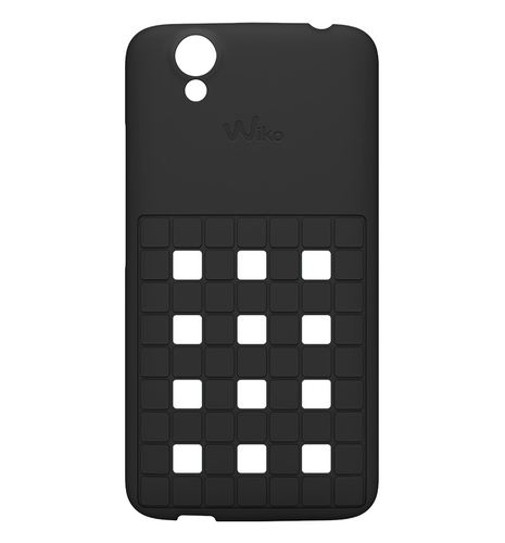 Wiko 104007 Handy-Schutzhülle (Schwarz)