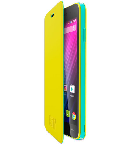 Wiko 93661 Handy-Schutzhülle (Gelb)