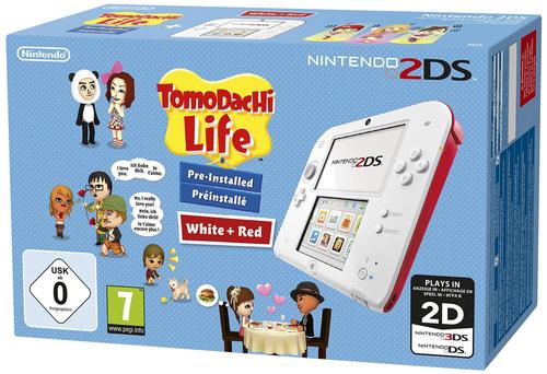 Nintendo 2DS + Tomodachi Life (Rot, Weiß)