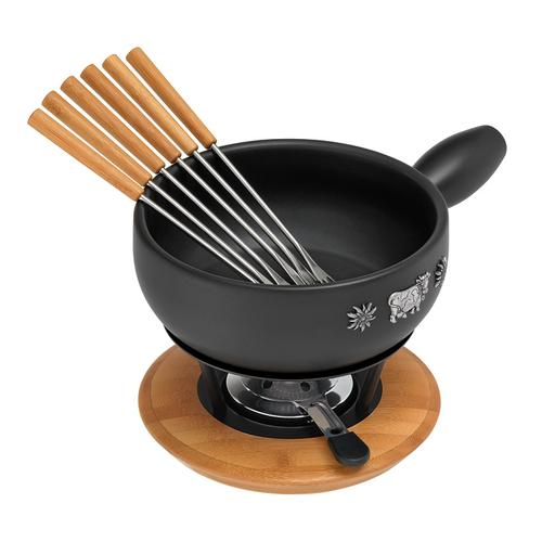 KUHN RIKON 32089 Fondue/Gourmet/Wok (Schwarz, Holz)