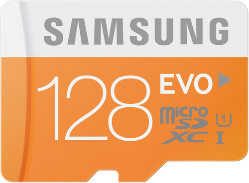 Samsung EVO 128GB MicroSDXC Class 10 UHS-1 (Orange, Weiß)