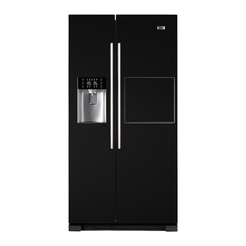 haier hrf 628an6 side by side k hlschrank black in. Black Bedroom Furniture Sets. Home Design Ideas