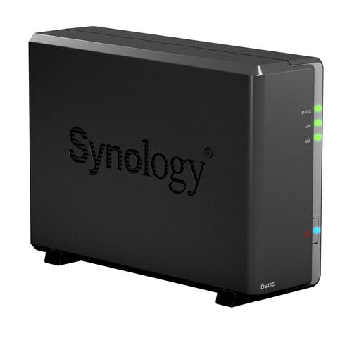 Synology DS115 Speicherserver (Schwarz)