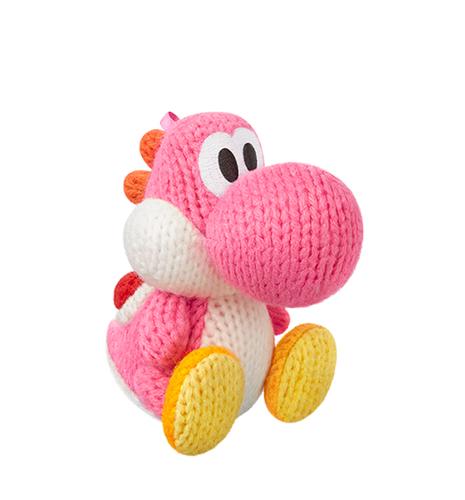 Nintendo Pink Yarn Yoshi (Weiß, Pink, Gelb)