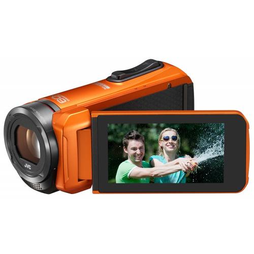 JVC GZ-R315DEU Digitale Videokamera (Schwarz, Orange)