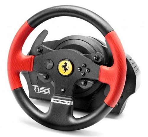 Thrustmaster T150 Ferrari Wheel Force Feedback (Schwarz, Rot)